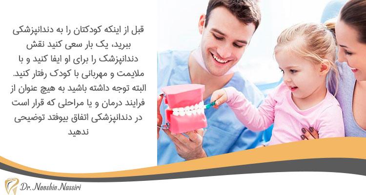 توضیح ندادن فرایند درمان به کودک جهت جلوگیری از بروز ترس کودکان از دندانپزشکی